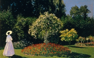 impressionism, oscar-claude monet, painting, art, oil on canvas, landscape, garden