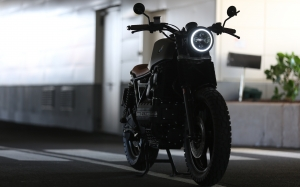 bike, blur, bmw k100, fast, focus, headlight, motor bike, motorcycle, parked, road, scrambler, tires, transportation, tyres, vehicle, wheels, bmw
