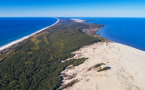 curonian spit, kaliningrad oblast, aerial view, epha dune, lanscape, sea, ocean, island