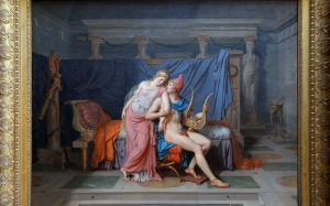 jacques-louis david, painting, oil on canvas, helen of troy, troy, homer, iliad, picture, neoclassicism