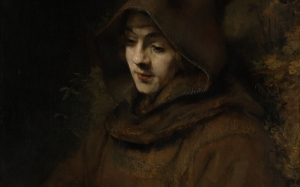 rembrandt's son titus in a monk's habit, titus as a monk, rembrandt, rembrandt harmenszoon van rijn, painting, portrait, oil on canvas