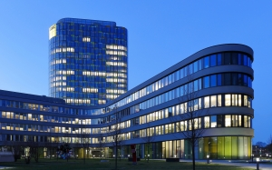 offices, complex, building, evening, city, march, glass, windows