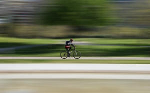 race, cyclist, bike, hurry, action, wheels, fast, road, blur, motion, biker, sport, ride, speed, velocity