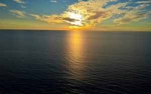 sea, horizon, sky, water, ocean, calm, sunset, morning, evening, sunlight, sunrise, clouds, dusk, coast, landscape, seascape