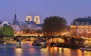 panorama, paris, pont des arts, bridge of arts, the pont neuf, france, french, towers, notre-dame de paris, cathedral, city, pont des arts, pont neuf