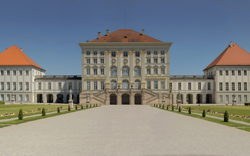 the nymphenburg palace, schloss nymphenburg, baroque, palace, munich, bavaria, germany