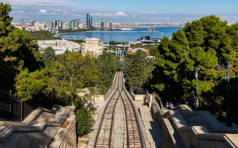 baku, azerbaijan, cityscape, city, coast, sea, view