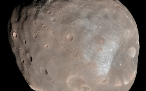 color image, phobos, satellite of mars, space