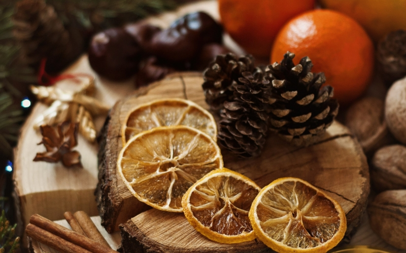 food, fruit, christmas, xmas, new year, wood, table, drink, cinnamon, tangerines
