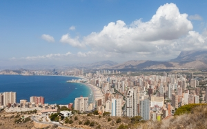 city, benidorm, turistic, costa blanca, white coast, land of valencia, spain, summer, lanscape, mountains