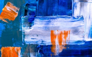 abstract, art, creative, design, acrylic, canvas, close up, brush, brushstroke, artist, colorful, oil, texture, paint, background, bright, blue, orange